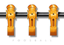 Foosball player yellow team by kickerposter