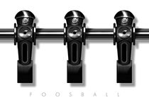 Foosball player black team by kickerposter