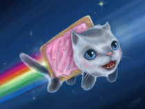 Nyan Cat (Pop Tart Cat)  by J.R.  Barker