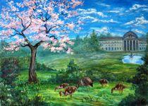 Geese in the Kurpark by Katerina Romanova