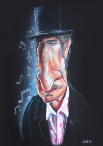 Bob Dylan caricature by Eder Galdino