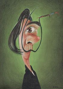 Dali caricature von Eder Galdino