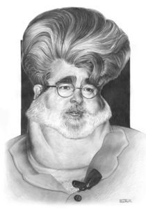 George Lucas caricature by Eder Galdino