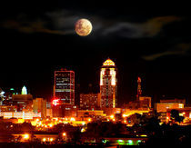 Full Moon Over Des Moines by Brian Olson