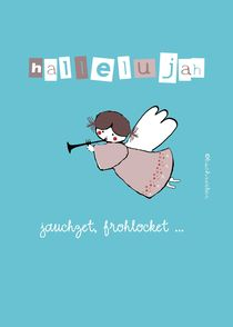 hallelujah, engel mit trompete by barbara schreiber