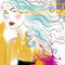 Line-art-lady-with-splashes