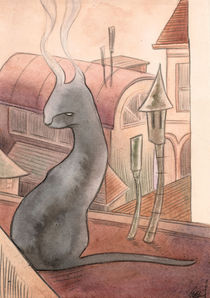 smoky cat by Ginevra Ballati