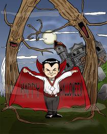 Halloween greeting card by Diego Lugli