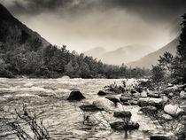 River Scene sepia von fadylr