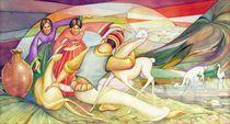 WS1955BO003 Vicunas of Bolivia Potosi 17.5X8.75 by alfredo Da Silva