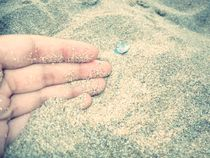 Touching the sand by Emilia Mocan