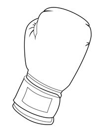 Black and white boxing glove by William Rossin