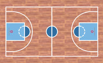 Basketball court by William Rossin