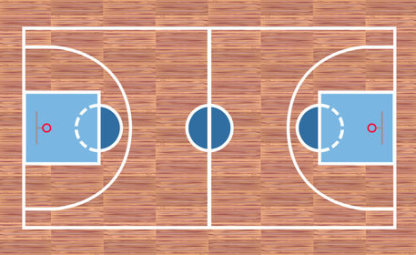 Basketball court graphic illustration art prints and for Making a basketball court