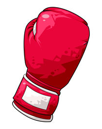Red boxing glove by William Rossin