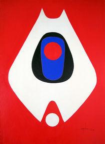 LL1964NY001 White Form 26 x 36 by alfredo Da Silva