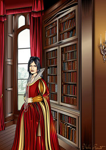 Library Lady by Dhella Rouat