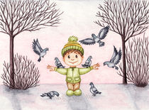 Pigeons by Ilona Sula
