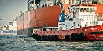 tugboat vs. cargoship von Philipp Kayser