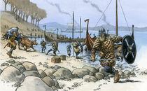 Viking raid by christian-hoejgaard