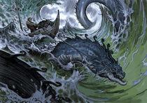 Thor goes fishing von christian-hoejgaard
