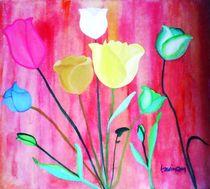 Farbige-tulpen