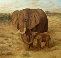 Elefanten-Ölgemälde by theresa-malerei