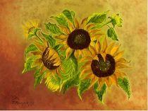Sonnenblumen by theresa-malerei