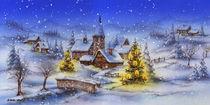 Winterlandschaft von E. Axel  Wolf