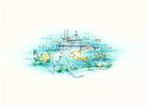 Unterwasser Landschaft von E. Axel  Wolf
