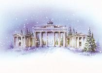 Brandenburger Tor im Winter von E. Axel  Wolf