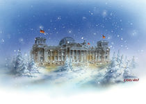 Reichstag im Winter by E. Axel  Wolf
