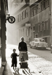Street Scene, Germany 1954 by Thomas Schaefer