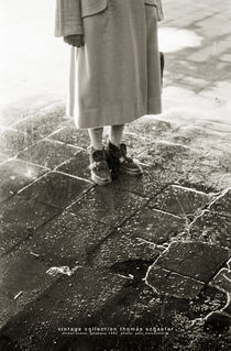 Woman in the rain, Germany 1954 by Thomas Schaefer