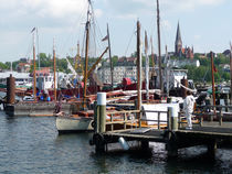 Blick in den Flensburger Hafen von Emanuel Lonz