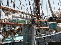 Takelage im Flensburger Hafen von Emanuel Lonz