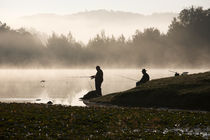 Foggy Fishing Scene by Carl Tyer