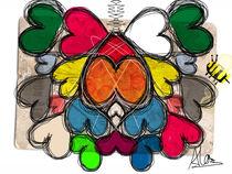 honeycomb hearts by Claudia Alegre