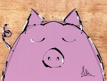 Sleepy pig by Claudia Alegre
