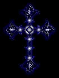Cross 2 (Blue & White) von Michael Ordway