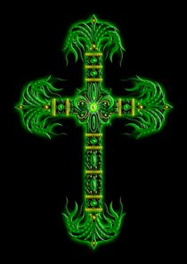 Cross 3 (Green & Yellow) by Michael Ordway