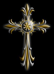 Cross (Silver & Gold) by Michael Ordway