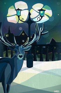 Christmas deer in the city von Victor Antonov