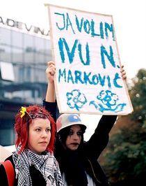 Protest by Ivan Aleksic