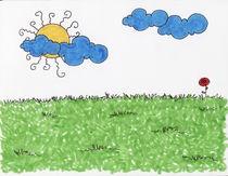 Sun field by Anna Freimane