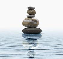 Zen stones in water von Bombaert Patrick