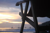 Sunset Beach Chair Nicaragua by Charles Harker