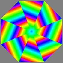shattered rainbow octagon by Chandler Klebs
