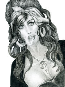 Amy Winehouse RIP study by Alma  Lee