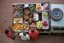 Fruit sellers in Bissau by Palle Smith-Petersen